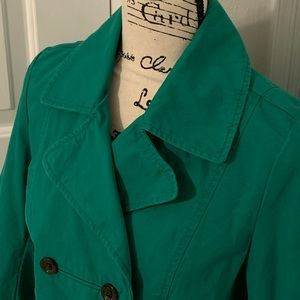 OLD NAVY Green Pea Coat - Size SMALL